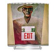 Fellini's Exit - Nola Shower Curtain