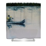 Fellow Travelers Shower Curtain