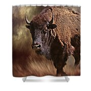 Female Buffalo Shower Curtain
