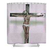 Female Crucifix Xv Shower Curtain