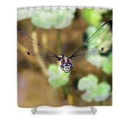 Female Dragonfly Shower Curtain