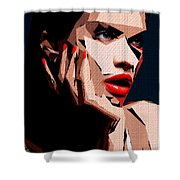 Female Expressions Liv Shower Curtain