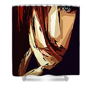 Female Expressions Xiii Shower Curtain