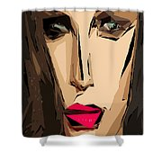 Female Expressions Xiv Shower Curtain