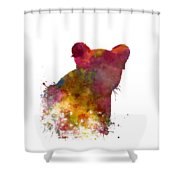Female Lion 02 In Watercolor Shower Curtain