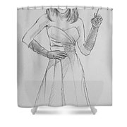 Female Model 14 Shower Curtain