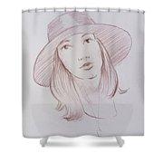 Female Model 24 Shower Curtain