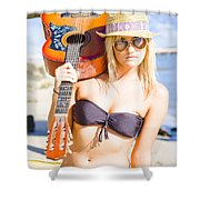 Female Performing Artist Shower Curtain