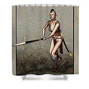 Female Pike Guard - Warrior Shower Curtain