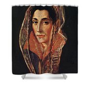 Female Portrait Shower Curtain