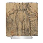 Female Saint (saint Clare Of Assisi Or Saint Catherine Of Siena?) Shower Curtain