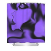 Female Space Face Shower Curtain