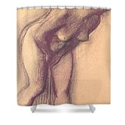 Female Standing Nude Shower Curtain