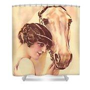 Feminine Rider Shower Curtain