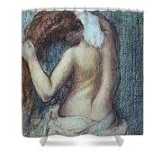 Femme A Sa Toilette Shower Curtain by Edgar Degas