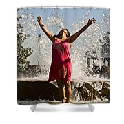 Femme Fountain Shower Curtain by Al Powell Photography USA