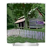 Fence And Cabin Shower Curtain