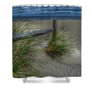 Fence And Dune Grass Shower Curtain