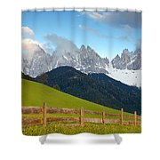 Fence At Val Di Funne Shower Curtain