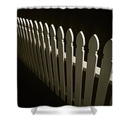 Fence Bw Shower Curtain