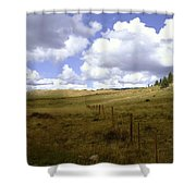 Fence Line Shower Curtain