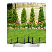 Fence Lined Garden Shower Curtain