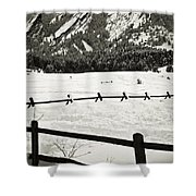 Fence Lines And Flatirons Shower Curtain