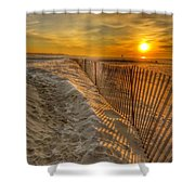 Fence On The Beach Shower Curtain