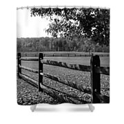 Fence Perspective Shower Curtain