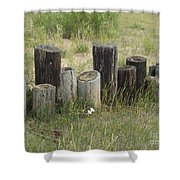 Fence Post All In A Row Shower Curtain