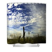 Fence Post And New Mexico Sky Shower Curtain
