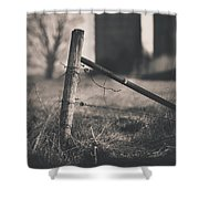Fence Post In Black And White Shower Curtain
