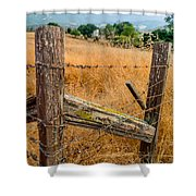Fence Posts Shower Curtain