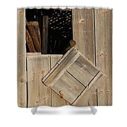Fence Posts In Barn Shower Curtain