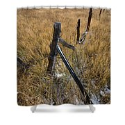 Fence To Nowhere Shower Curtain