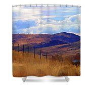 Fence Views Wyoming Color Shower Curtain