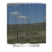 Fenced Clouds Shower Curtain