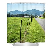 Fenced In Dandelions Shower Curtain