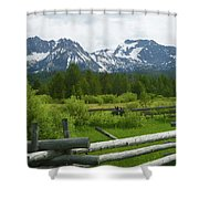 Fenced In Sawtooths Shower Curtain