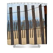 Fenced Off Beach Shower Curtain
