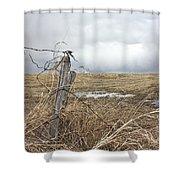 Fencepost Shower Curtain