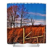 Fencerow Shower Curtain