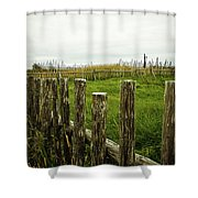 Fences In A Stormy Light Shower Curtain