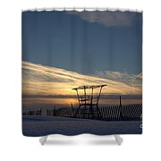Fencing On Look Out 2 Shower Curtain