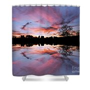 Fencing Reflections Shower Curtain
