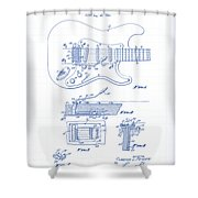 Fender Guitar Patent Drawing Shower Curtain