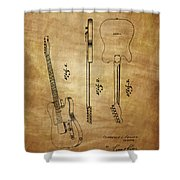Fender Guitar Patent From 1951 Shower Curtain