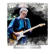 Fender Man Shower Curtain