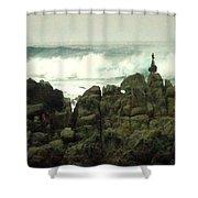 Feng Shui On The Monterey Peninsula Shower Curtain