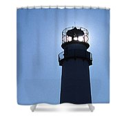 Fenwick Island Lighthouse Shower Curtain by Skip Willits